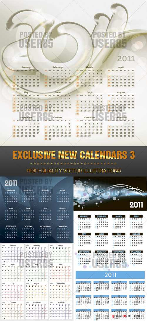 Stock Vector - EXCLUSIVE NEW CALENDARS 3
