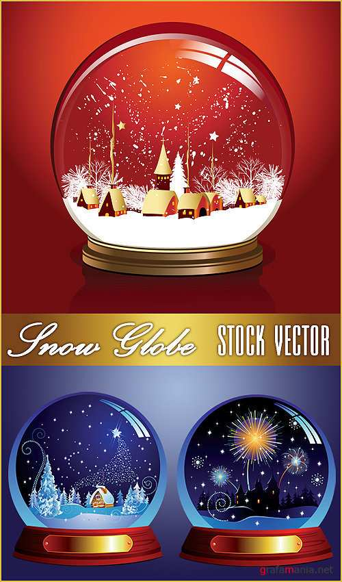 Snow Globe - Stock Vector