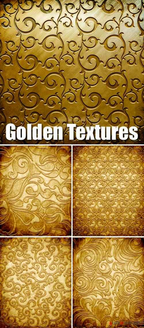 Stock Photo - Golden Metal Textures