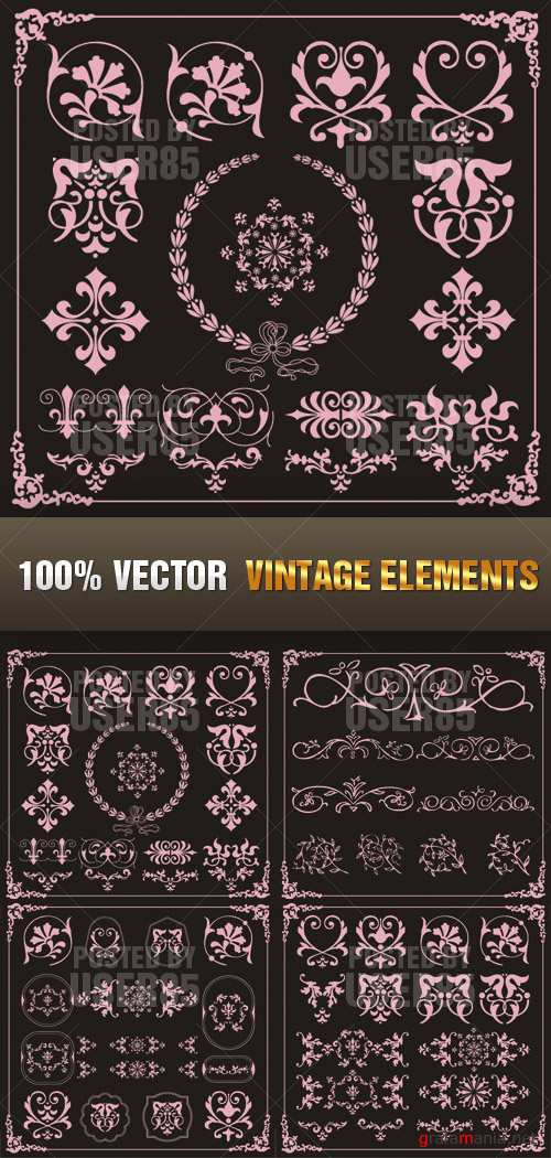 Stock Vector - Vintage Elements