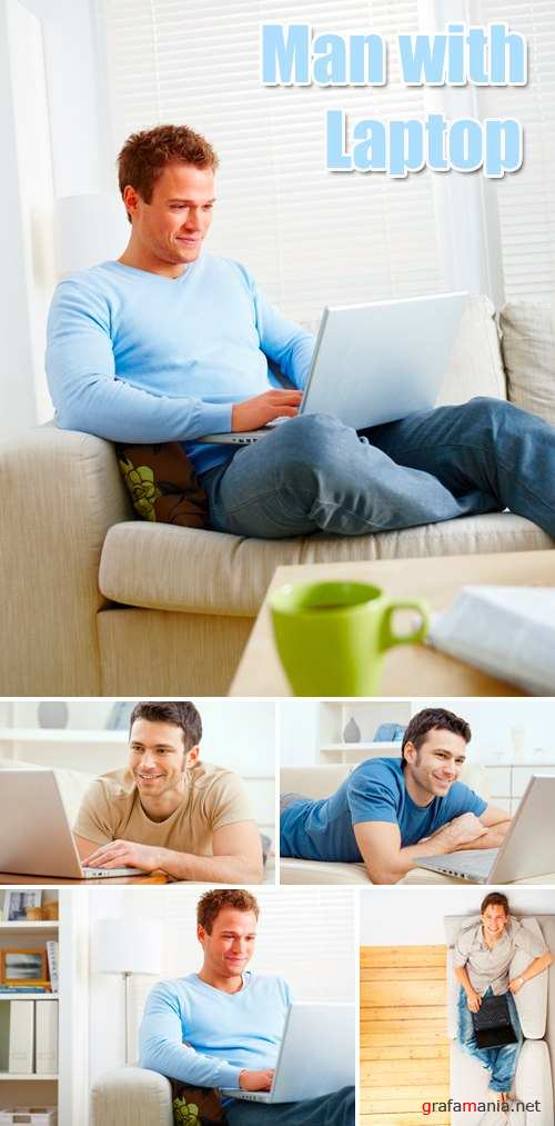Stock Photo - Man with Laptop