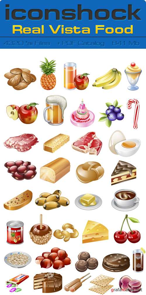 IconShok - Real Vista Food Illustrator Sources