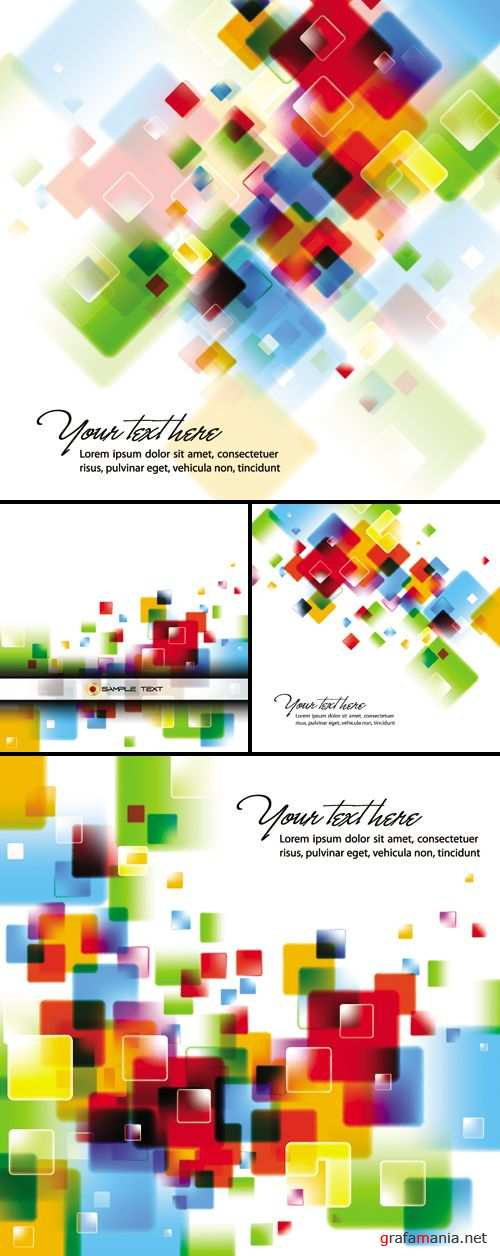 Intensive Color Backgrounds Vector