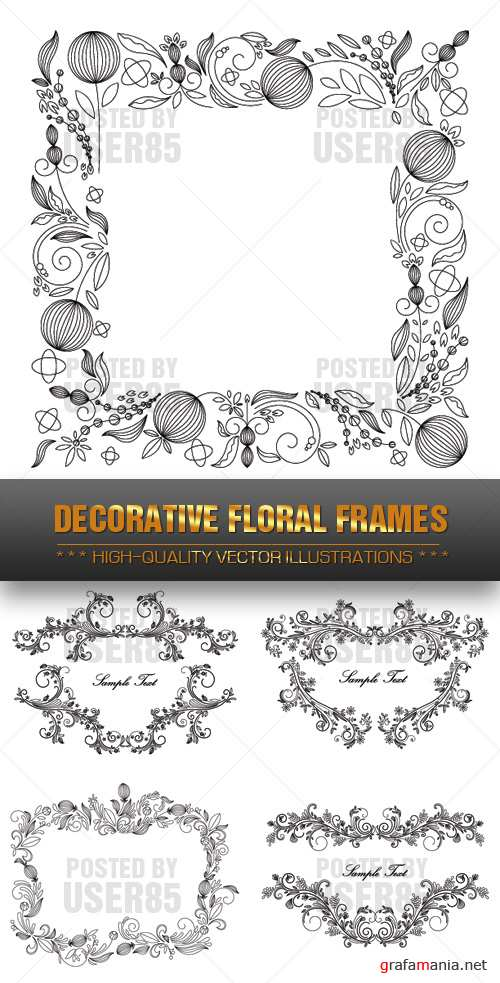Stock Vector - Decorative Floral Frames
