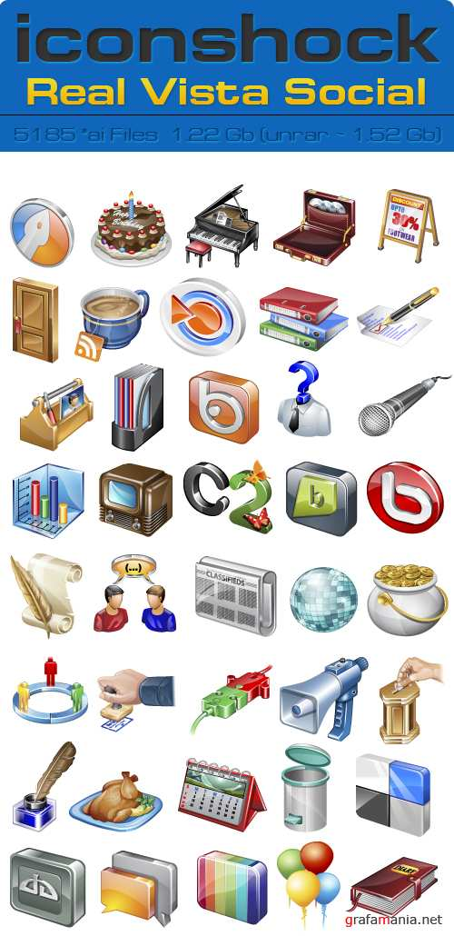 IconShok - Real Vista Social Illustrator Sources