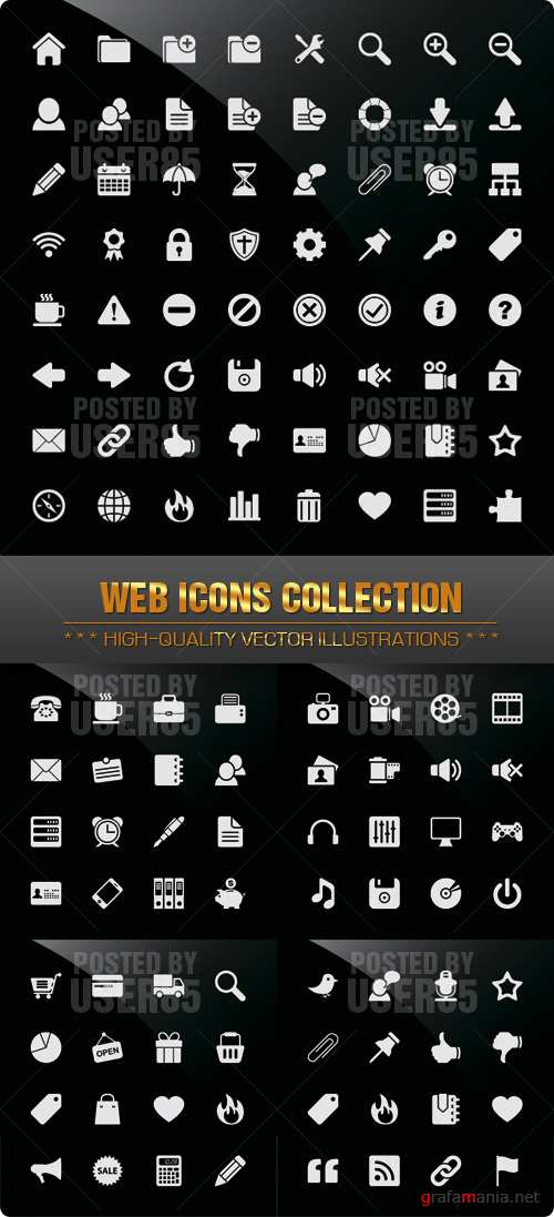 Stock Vector - Web Icons Collection