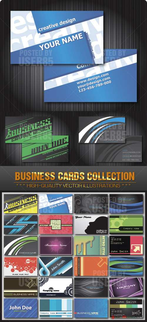 Stock Vector - Business Cards Collection