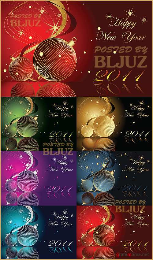 New Year Collection 01 Stock Vector