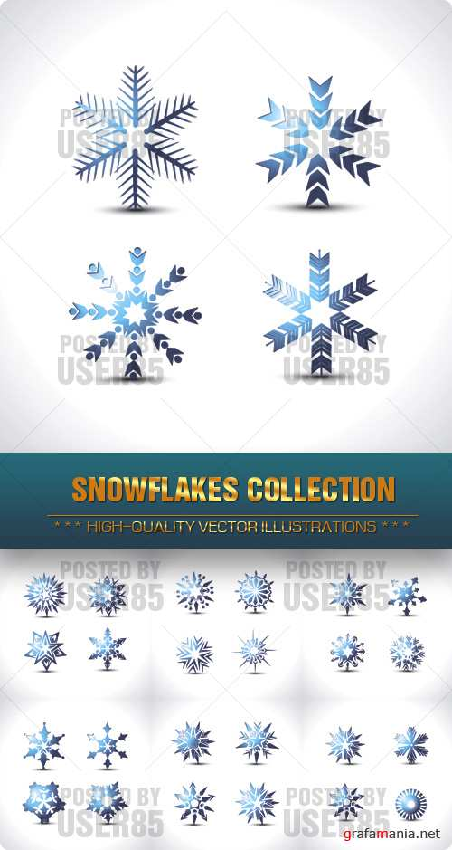 Stock Vector - Snowflakes Collection