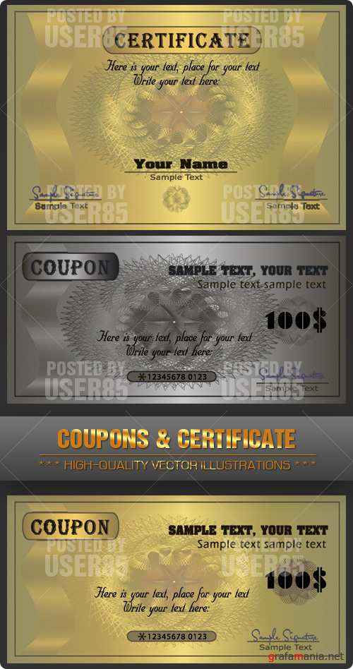 Stock Vector - Coupons & Certificate