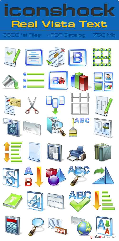 IconShok - Real Vista Text Illustrator Sources