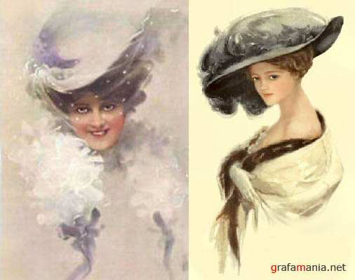 Beautiful Women Vintage Cards
