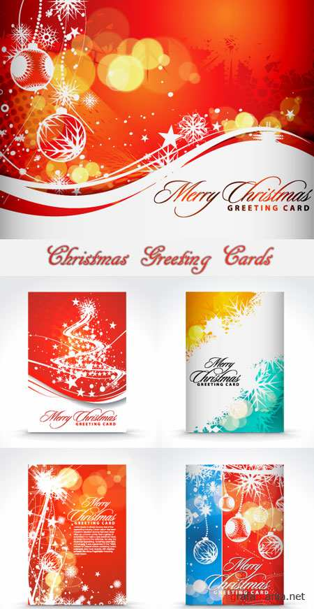 Christmas Greeting Cards - Stock Vectors
