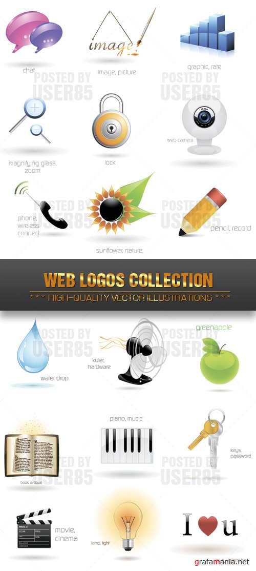 Stock Vector - Web Logos Collection