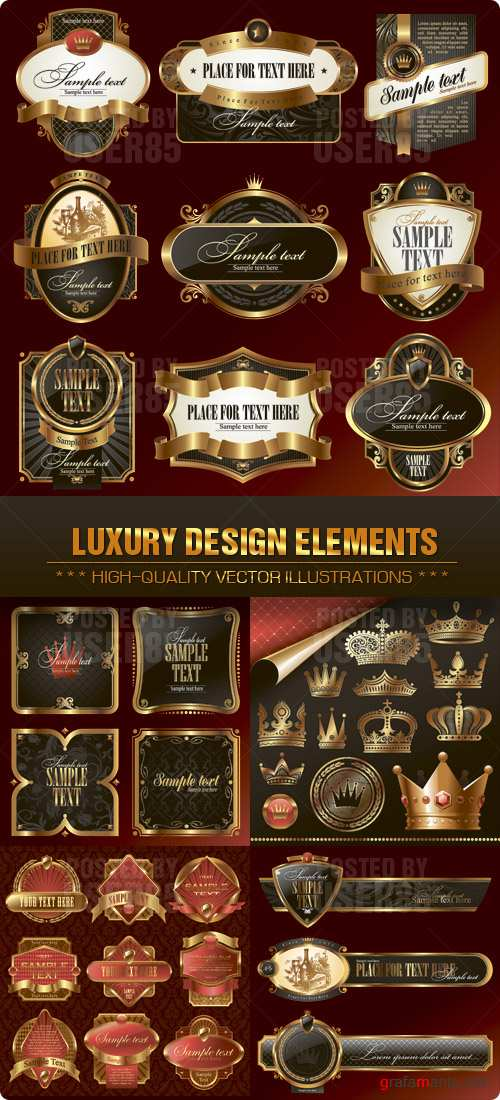 Stock Vector - Luxury Design Elements