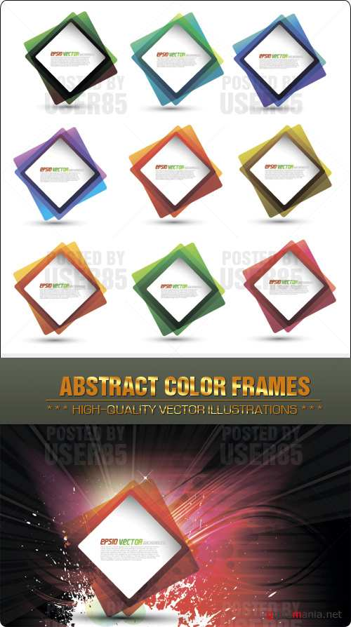 Stock Vector - Abstract Color Frames