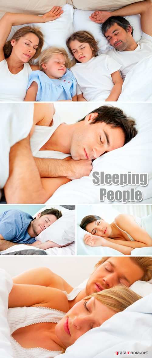 Stock Photo - Sleeping People