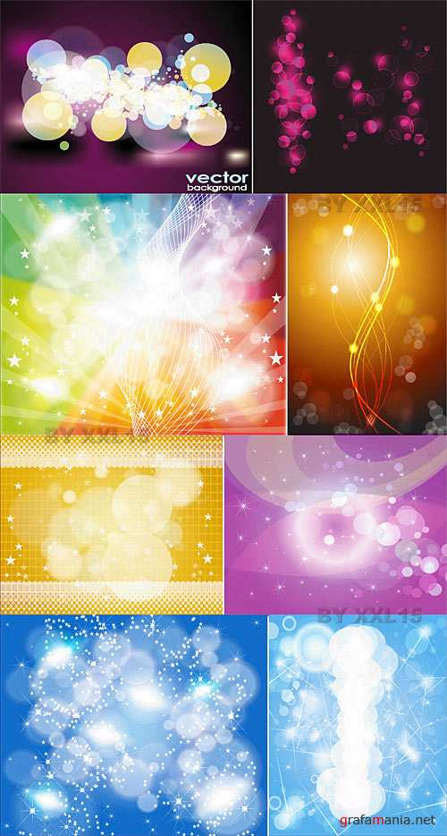 Bokeh vector backgrounds 2