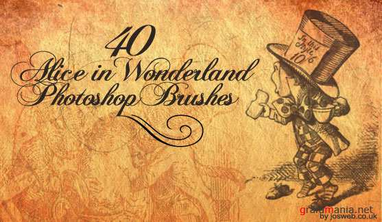 Alice In Wonderland Brushes by ~gojol23