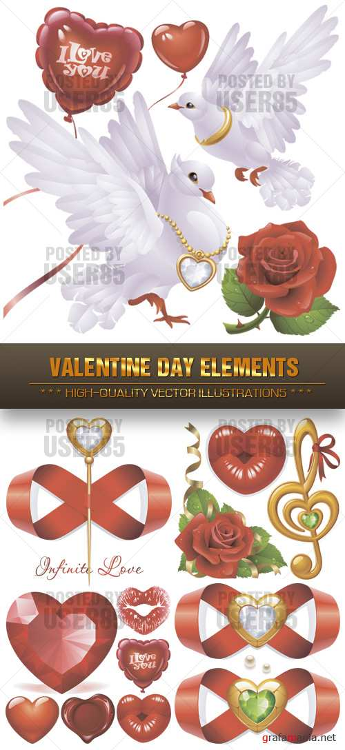Stock Vector - Valentine Day Elements