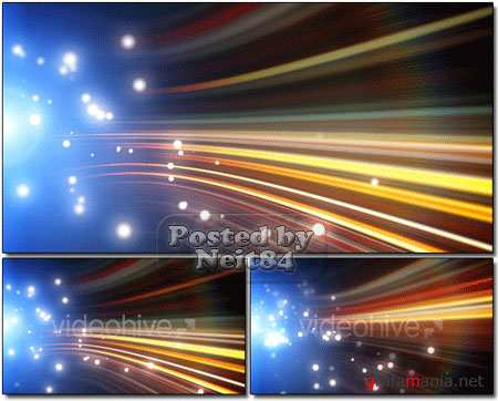 VideoHive motion Blue particles flow loop
