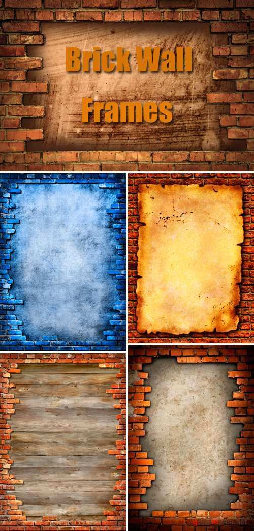 Stock Photo - Old Brick Wall Frames