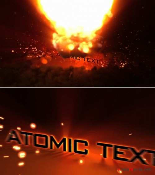 After Effects Project Atomic Text