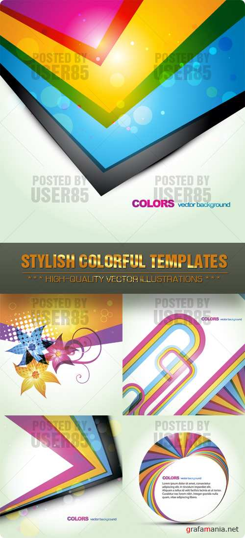 Stock Vector - Stylish Colorful Templates