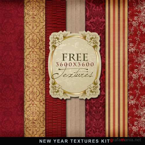 Фон – New Year Textures Kit