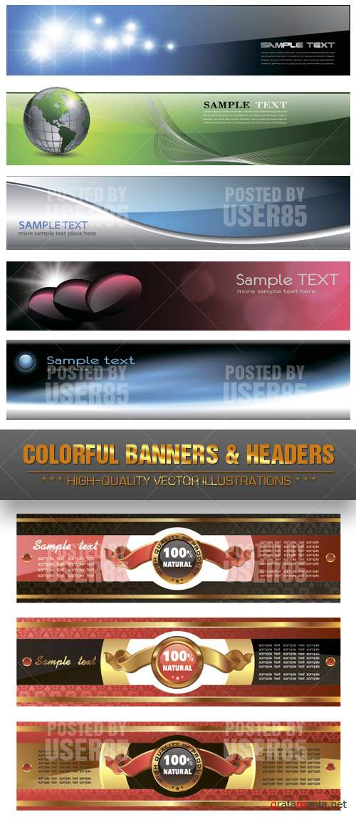 Stock Vector - Colorful Banners & Headers