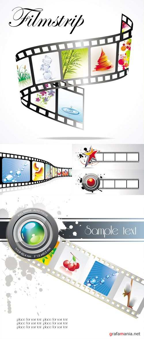 Color Filmstrip Vector