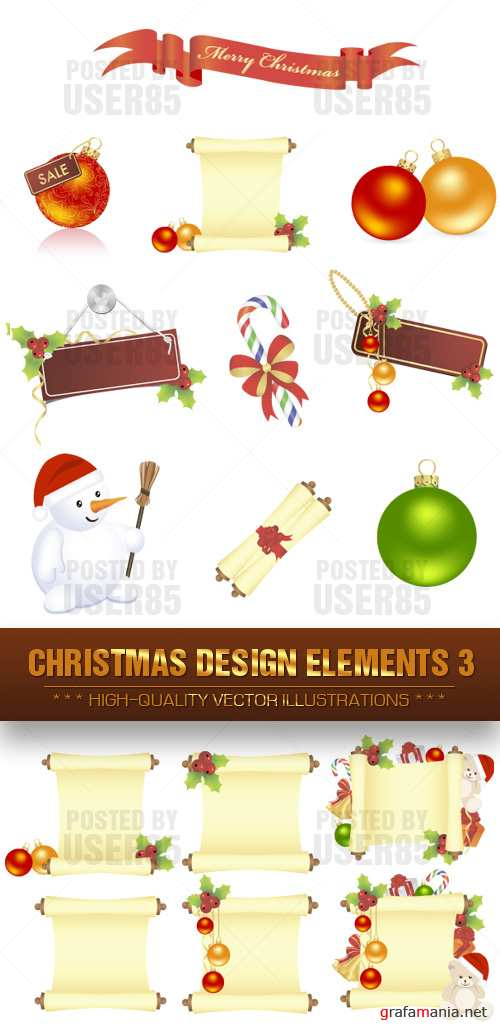 Stock Vector - Christmas Design Elements 3