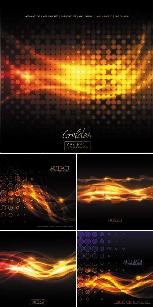 Golden Abstract Backgrounds