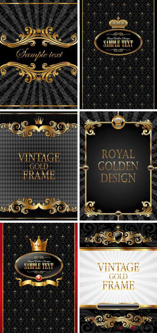 Royal Black Golden Backgrounds Vector