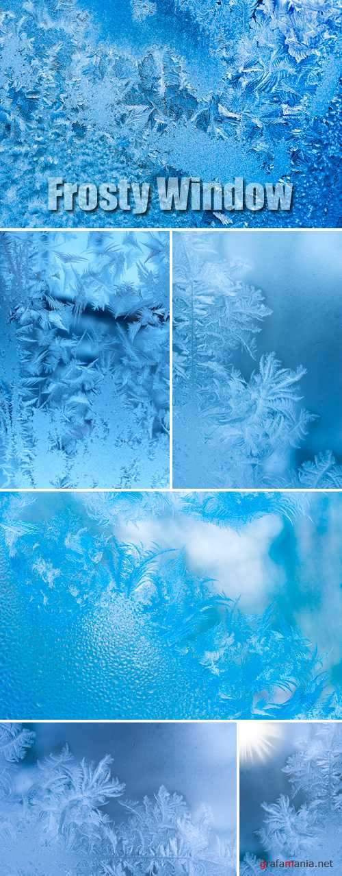 Stock Photo - Frosty Window Textures
