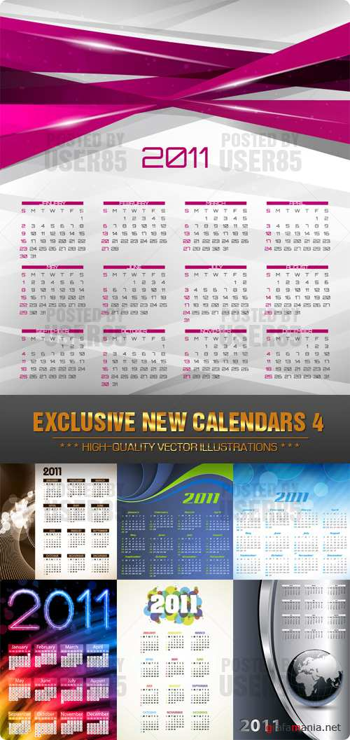 EXCLUSIVE NEW CALENDARS 4