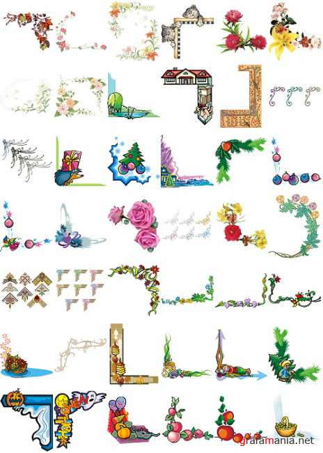 Clipart PNG - Decorative Corners