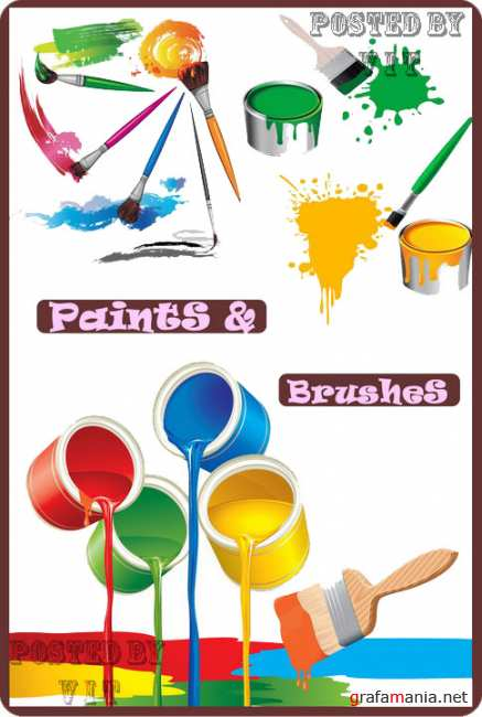 Paints and Brashes 5