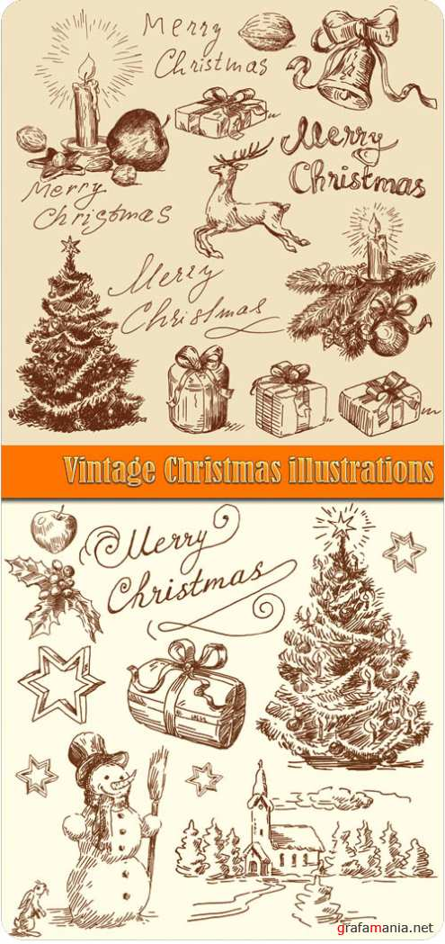 Vintage Christmas illustrations