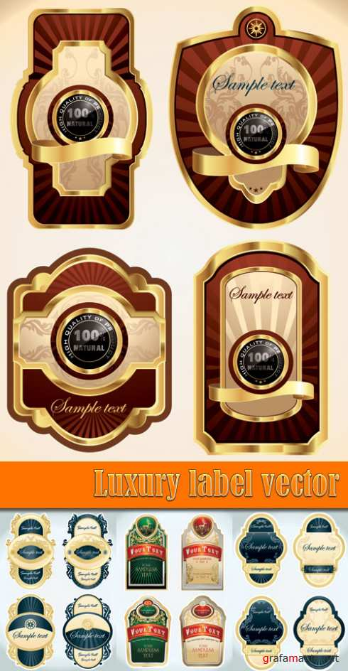 Luxury label vector