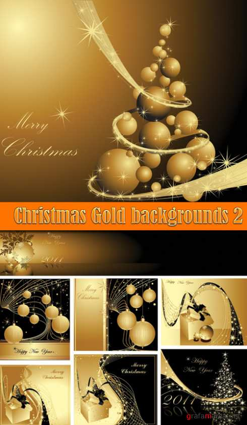 Christmas Gold backgrounds 2