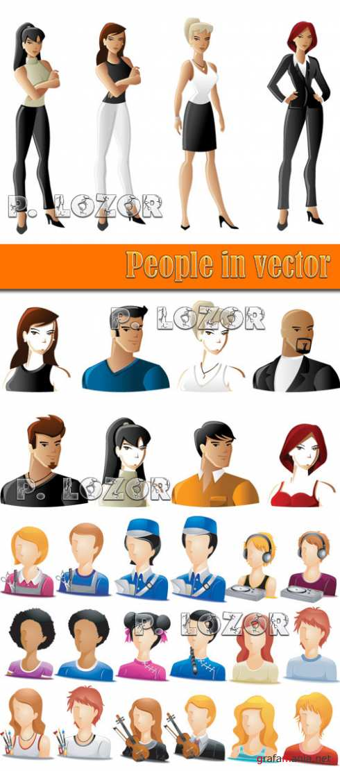 People in vector