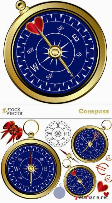Stock Vector - Compass