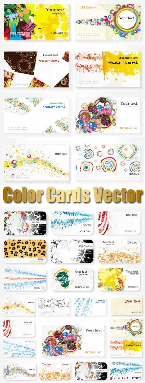 Color Cards Vector