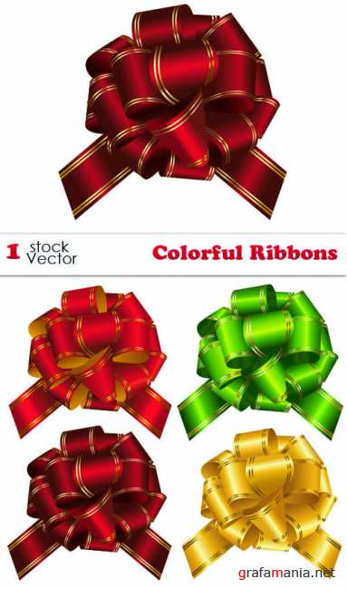 Stock Vector - Colorful Ribbons