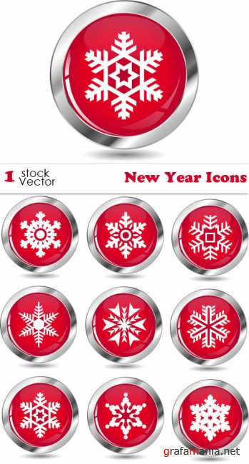 Stock Vector - New Year Icons
