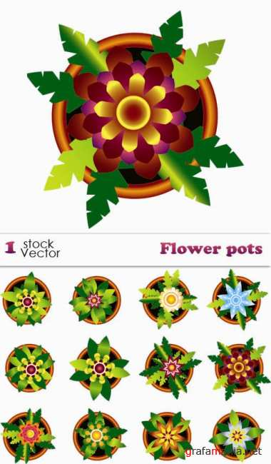 Stock Vector - Flower Pots