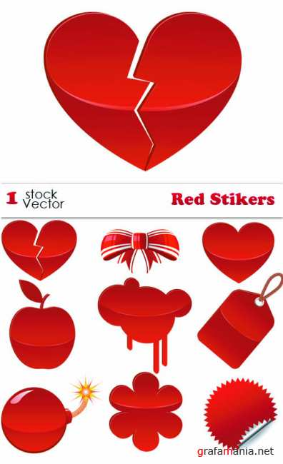 Stock Vector - Red Stikers