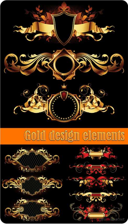 Gold design elements