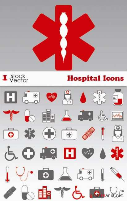 Stock Vector - Hospital Icons